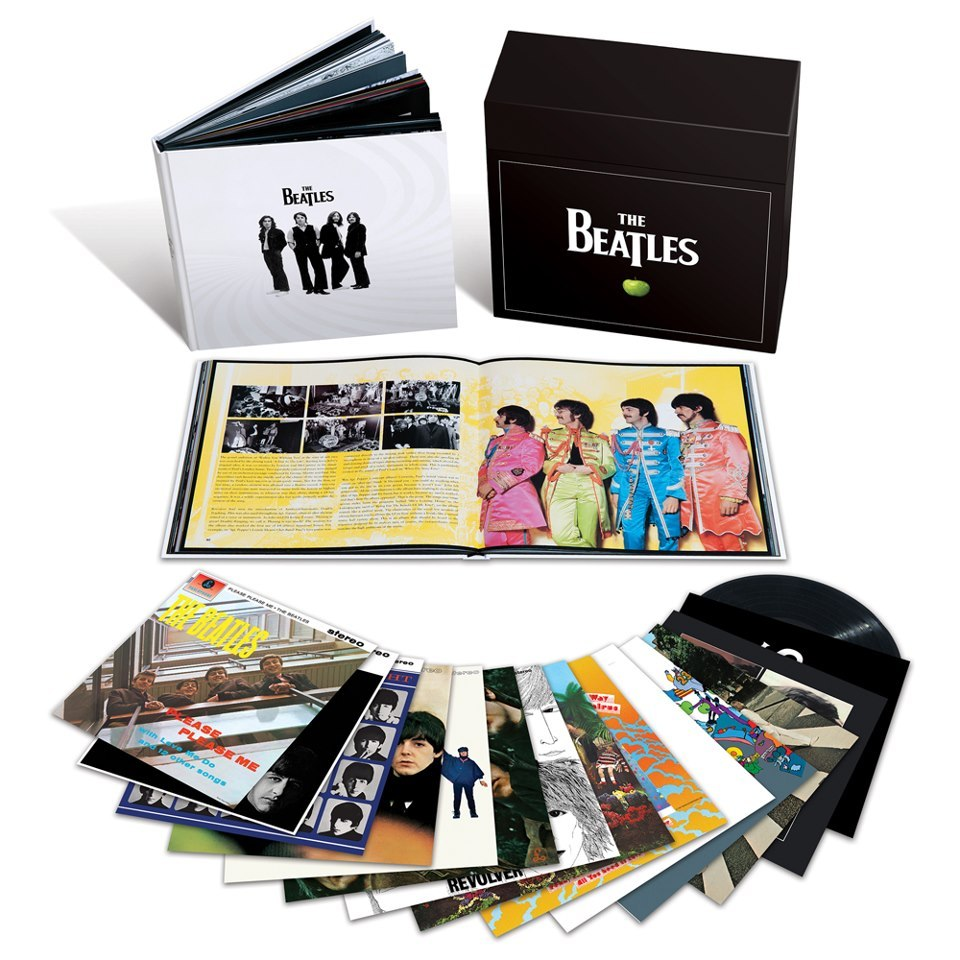 Happy Birthday to me.  The Beatles' acclaimed original studio album remasters, released on CD in 2009 and in 2010 for digital download exclusively on iTunes, will make their long-awaited stereo vinyl debut on 12th November (13th November in North America). Each album will be available individually, and accompanied by a stunning, elegantly designed 252-page hardbound book in a lavish boxed edition which is limited to 50,000 copies worldwide.   Read the full story here: http://thebeatles.com/#/news/Vinyl