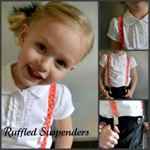 littlecraziness:  (via Simple Simon & Company: Ruffled Suspenders Tutorial)
