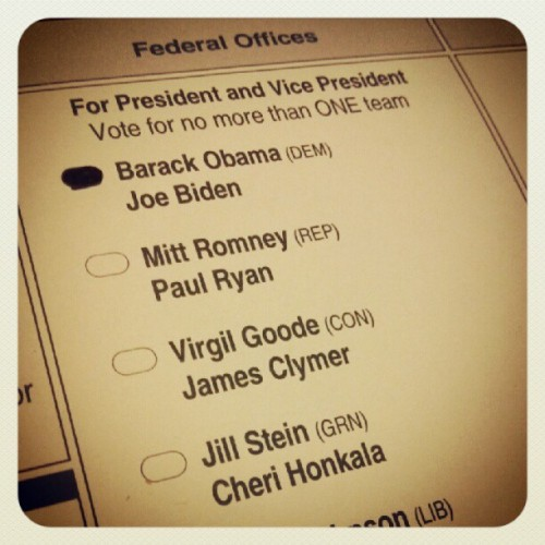 Voting early in Iowa! (Taken with Instagram)