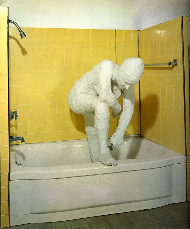 cavetocanvas:  George Segal, Woman Shaving Her Leg, 1963