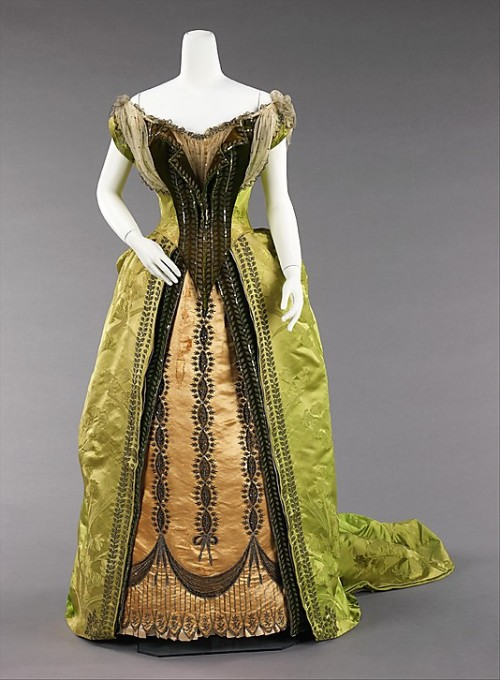 Evening Dress Charles Fredrick Worth, 1887 The Metropolitan Museum of Art