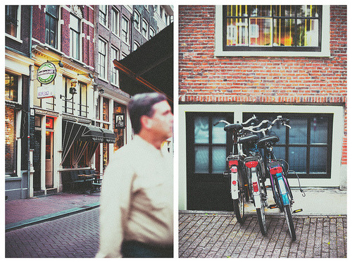 Amsterdam. Bike, Bee, Art and Red Light District.