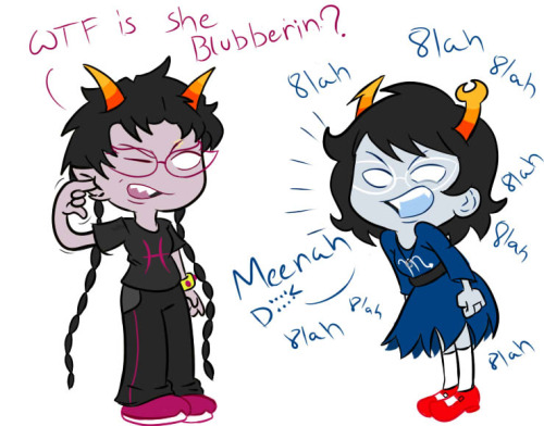 Homestuck: Meenah and Aranea