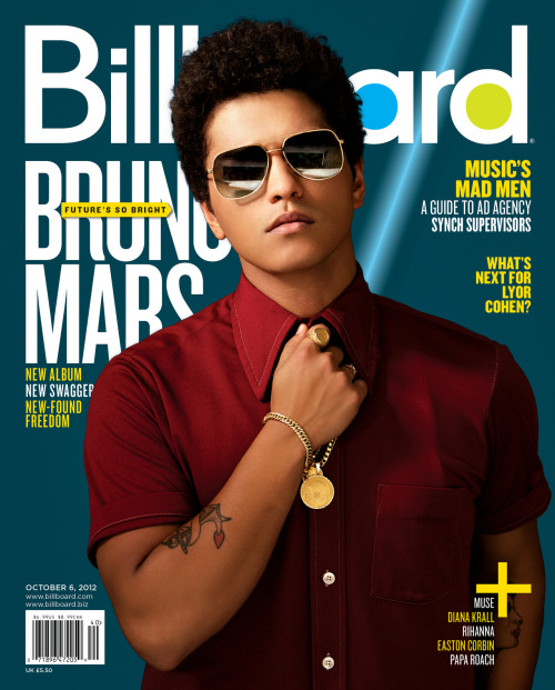 The latest issue of Billboard magazine features Bruno Mars, looking cool and classy as ever. Get a first look at the cover (stay tuned for the story) and click here to subscribe!