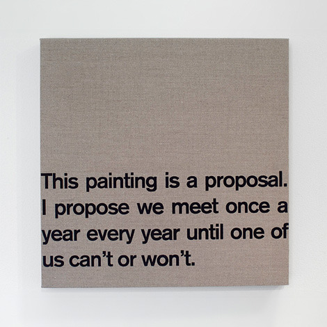 ryandonato:  Proposal, 2007, by Dave McKenzie. Acrylic on canvas.