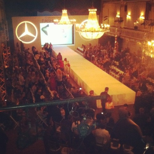 About to start our final runway show! #MBBFW  (Taken with Instagram at Statler City)