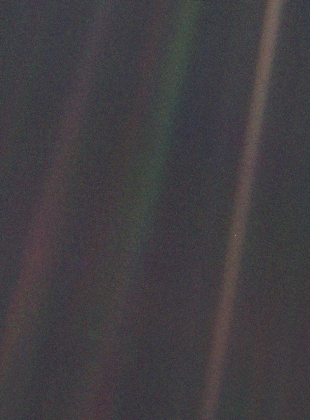 timeywimeyhufflepuff:  That dot is Earth from 4 billion miles away.