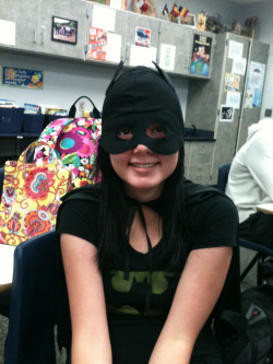 I vote for Brooke on best costume in French class!
