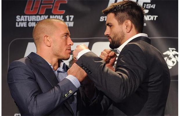 chuchuan:  fightersblog:  George St-Pierre vs. Carlos Condit - Press Conference  St-Pierre… this is your moment… your comeback!  Esto va a estar del carajo! La pelea que más he esperado!