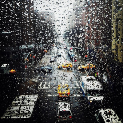 fred-wilson:  rainy day in NYC today nevver:  Still falls the rain