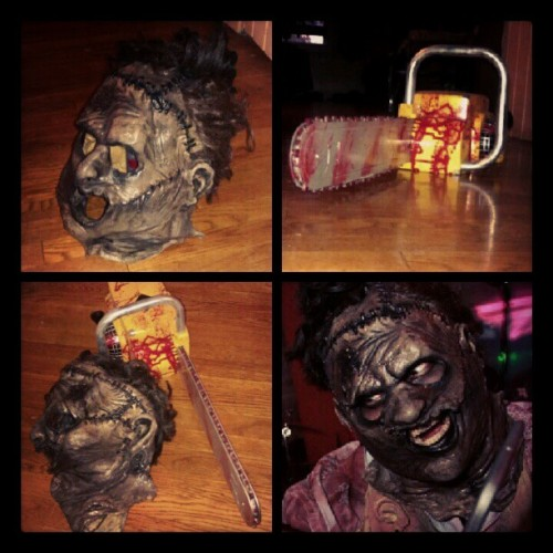 Should #leatherface make an #appearance this year for #Halloween #costume #party #Halloweencostumeparty #TeaxsChainsawMassacre #ThomasKHewitt #Horror #movie #Texas #Chainsaw #Massacre #Mask #Scary #Gore #SlasherFilm #Slashes #film  (Taken with Instagram)