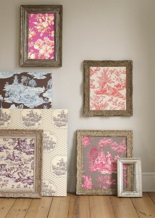 makesomethingmarvelous:  DIY Inspiration: Framed fabric. You could even wrap the fabric around cork first, and make framed corkboards in pretty prints.