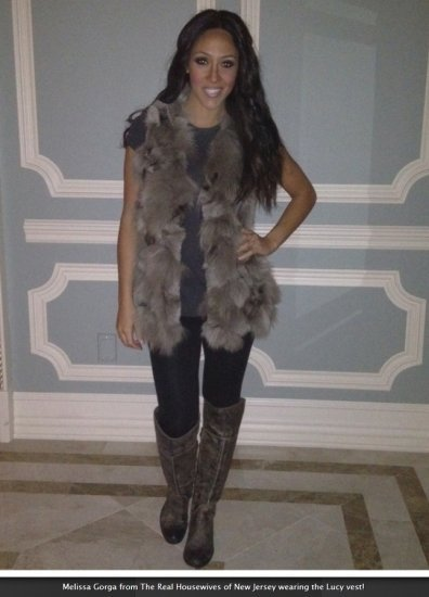 Melissa Gorga from The Real Housewives wearing The Cue Lucy Vest