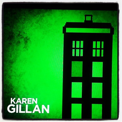 Karen's icon during the credits of Conan was a TARDIS. Yay! spaghetticats:  Taken with Instagram
