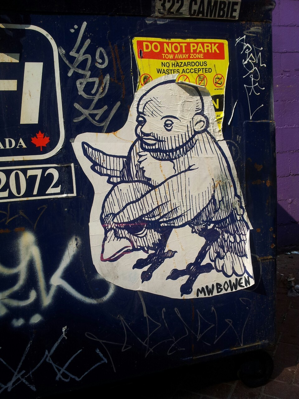 Paste up down at Woodwards