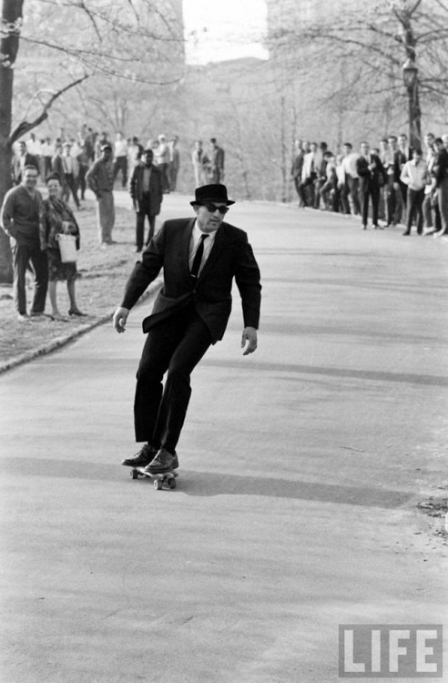 Skateboarding in NYC in the 1960s.