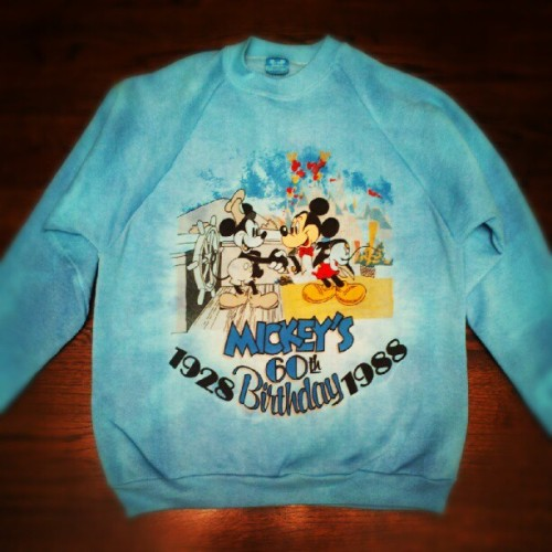 Buying vintage #MickeyMouse #Disneyland gear and overdying it. Such a great move. #vintage #artsandcraftsday  (Taken with Instagram)