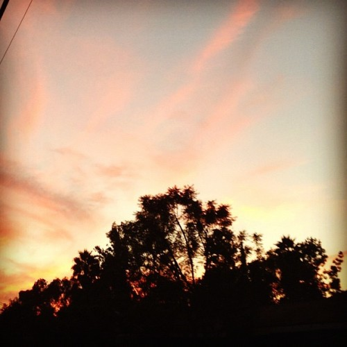 Perfect #sunset after the #gym (Taken with Instagram)