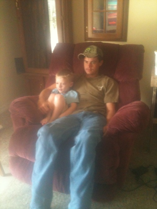 My two favorite men(:My baby nephew has taken quite the liking to the love of my life. I think he may even be determined to make Logan love him more than me!! I love you Logan&Noah(: