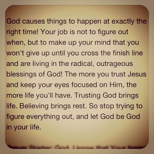 Entrust everything to God!