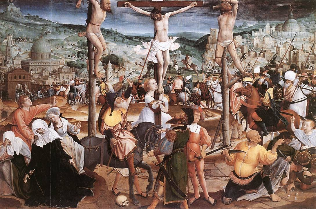 3. Jan Provost Crucifixion Oil on oak panel, Groeninge Museum, Bruges