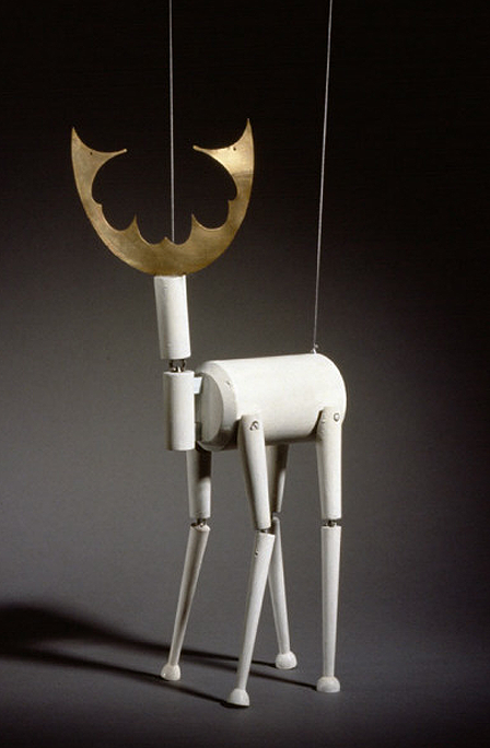 """Stag Marionette From King Hirsch"", c. 1918  By: SOPHIE TAEUBER-ARP…."