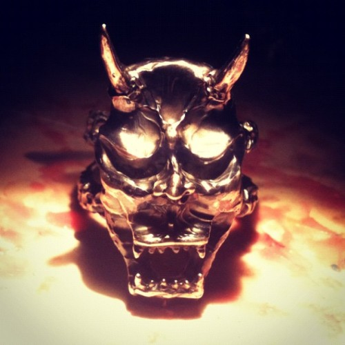 She is ready… Introducing a new #Sterlingsilver #Hannya #ring by #bevelnyc  (Taken with Instagram)