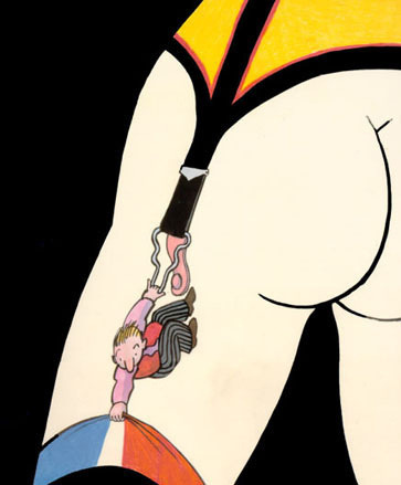 Suspend-der-ed. Art by Tomi Ungerer, a national living treasure.