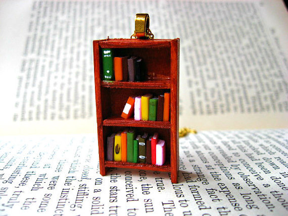 Maple Bookshelf Necklace by Coryographies
