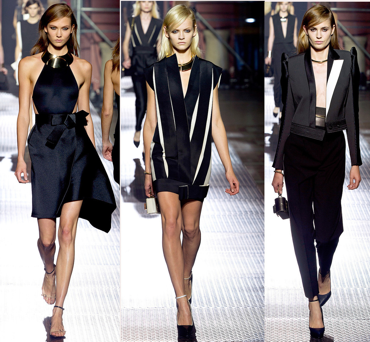 Lanvin S/S 2013 #PFW | The more Alber Elbaz literally spreads the more in voguish tune his evening looks are.
