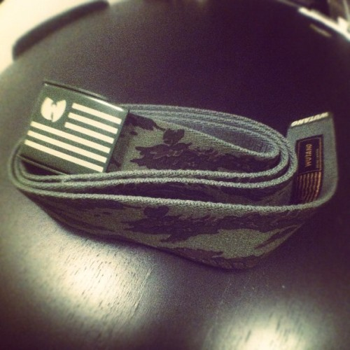 #Wutang Brand Ltd. #belt #tigercamo #firstlook #nyc #hashtaglife (Taken with Instagram)