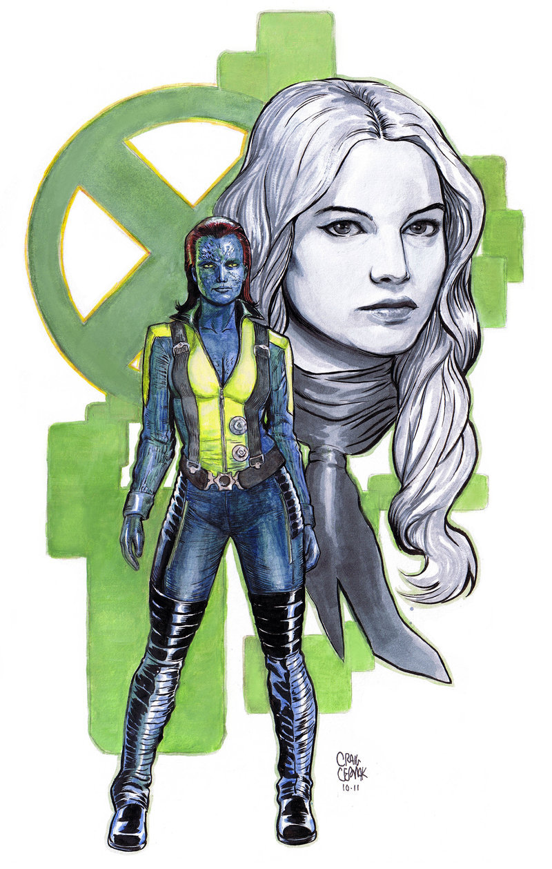 Commission of Jennifer Lawrence / Mystique from Craig Cermak