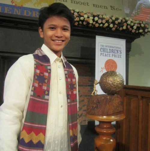 "A homeless 13-year-old Filipino last week won a very prestigious award for his commitment to improving the lives of fellow street kids.  Business News Online reports that Cris ""Kesz"" Valdez, who lived off a trash dump and slept in an open tomb for the majority of his childhood, was awarded this year's International Children's Peace Prize in The Hague on September 19, receiving $130,000 in prize money. ""You are wonderful,"" Nobel Peace laureate Desmond Tutu, who awarded this year's prize, told the resilient teen. Valdez survived by scavenging off a dumpsite since the age of two; he was viciously abused and was forced to seek help after he was badly injured, according to Global Post. However, he had a remarkable idea to help other homeless children. At the age of seven, Valdez founded ""Championing Community Children,"" a charity that raises funds to hand out necessities to street kids in Cavite City. GMA reported that Championing Community Children has handed out more than5,000 gifts, including sandals, clothes, candy and toys, to poor children living in the slums around Manila. To date, Valdez has been able to help more than 10,000 at-risk children, reports GMA News. According to Business World Online,246,000 Filipino street children are subject to abuse, violence and child labor every day. Valdez's message to children around the world: ""Our health is our wealth! Being healthy will enable you to play, to think clearly, to get up and go to school and love the people around you in so many ways.""Most of the prize money will go directly into the charity. But Valdez hopes to someday realize his dreams of getting an education and becoming a doctor."