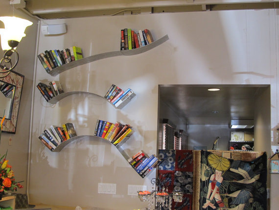 Hanging Wave Bookshelf by Brianna Kufa