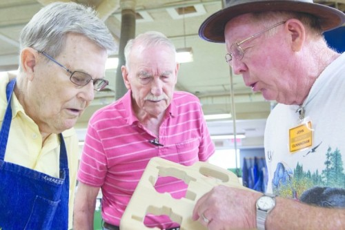 "Arizona woodworking club gears up for season of charity  The Sunshine Club at the Ahwatukee Recreation Center will begin its charity woodworking projects for the Phoenix Children's Hospital and Shriners Hospitals for Children this October. Seeking scrap wood and tool donations, the woodworking group makes toys and other keepsakes for children at hospitals, schools, and churches among several other organizations. The woodworking club started in 1979 at the recreation center and moved to its current site, a building tucked just behind the main center, in 1987. Nearly 100 members strong, the club has worked on projects as small as toy cars to as big as a 20-foot-long, 8-foot-tall cage for a condor at Liberty Wildlife in Scottsdale. But for each project going to a good cause, the members are happy to help. ""It's amazing, and everyone has their own niche,"" said Theresa Goldstein, a Child Life Program assistant at Phoenix Children's Hospital. On a regular Thursday morning, a few of the woodworking members trickle in to begin work on their projects. Everything from table saws to small tools can be found in the shop that holds several heavy-duty machines and two workrooms. Sawdust covers the floor, and most of the members. ""I enjoy the camaraderie,"" said Roman Ertelt, who has been volunteering at the club for more than 10 years. For the kids at the hospitals receiving the trinkets and toys, the result is usually comforting. The Child Life Program helps patients and their families with learning how to cope with fears and anxieties of leaving home or school. ""(The woodworkings) are keepsakes because they are so substantial,"" said Goldstein. ""When we bring a wood piece into the kids' rooms, rather than a piece of paper or paint, it's a big difference."" For the Child Life Program, the woodworking club members make the toys or keepsakes ranging from star-shaped jewelry holders, prayer boxes, Mancala game sets, cars, and birdhouses and sends them with an unfinished surface. The kids then can decorate the toys how they want, provided with paint, glue, glitter and other things. ""It's more personal,"" said Sandi Hutson, wife of the El Zaribah Shriner's president, J. ""Hut"" Hutson. The Shriners hospitals, which have treated about 1 million children throughout 22 states, have received donated woodworkings from the club for two years. ""Not only are (the kids) getting treatment, but they get something special to take home with them,"" Sandi added. On the local scale, the same effort is constantly in demand. ""This will always be needed,"" Goldstein said."