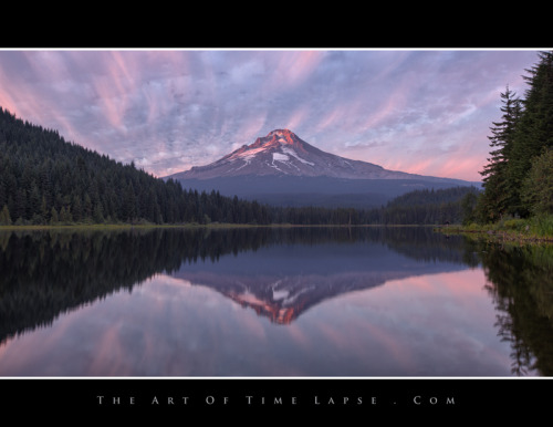 A time-lapse screen shot taken a few hours ago at Trillium Lake