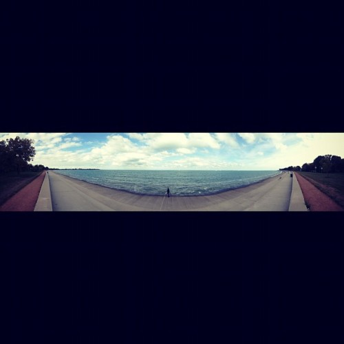 At the lake #LakeMichigan #Chicago #Chill  (Taken with Instagram)