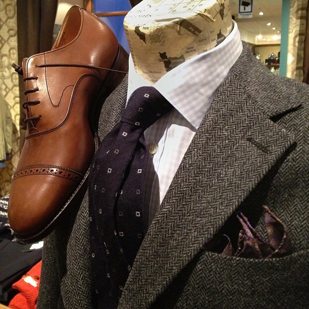 paulandfriends:  #Paulfriends Moon tweed. #trickers on the top. (Taken with Instagram at NK Paul & Friends)