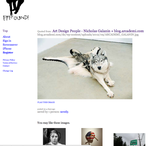 My art on one of my favorite websites, Wonderful!! http://ffffound.com/image/19c2a5cca9cae2e8bd120e33a7979690ae603024?c=10045550