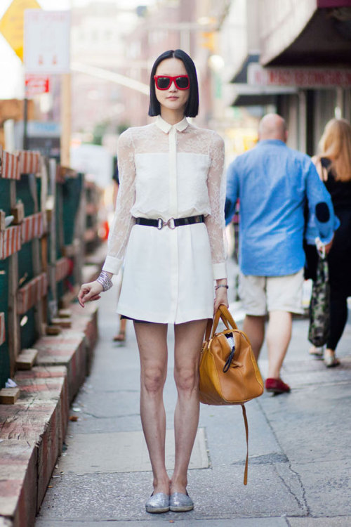 Hye Jung Lee Dress and sunglasses, vintage. Shoes, Steve Madden.