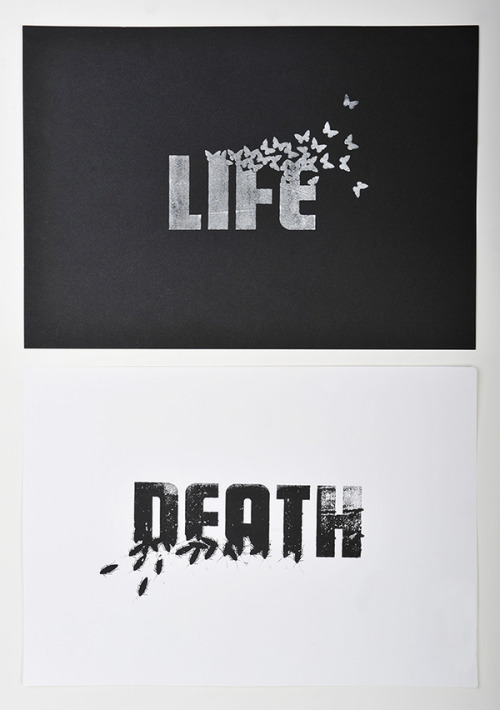 type-lovers:  LIFE / DEATH Designed by Scott Malcom