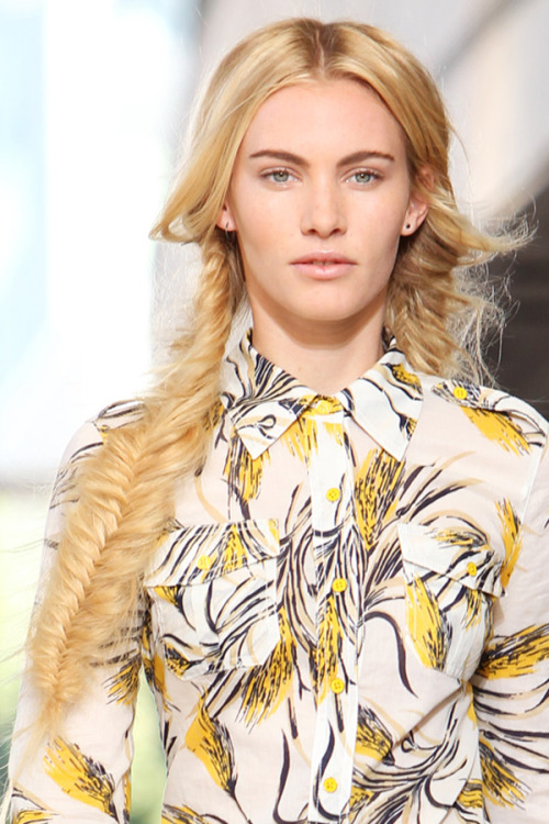 From Tory Burch to Nicole Miller, we rounded up four fishtail braid styles we loved from New York Fashion Week. See more top looks here »