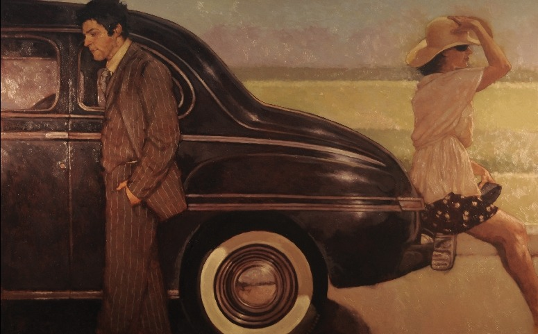 "Joseph Lorusso - ""The Passenger"" Oil on Panel, 30"" x 48"""