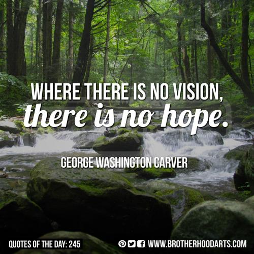 "[syahid] Quotes Of Day: 245: ""Where there is no vision, there is no hope."" - George Washington Carver"