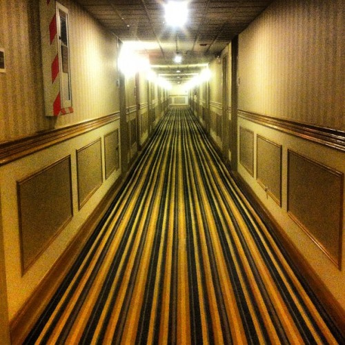 Hotel hallway. #hotel #carpet #stripes #creepy #vertigo (Taken with Instagram)