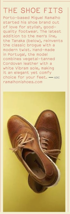 My very own Ramalhoni Shoes made their way into the MONOCLE STYLE DIRECTORY …  Check it out .… #menshoes #monocle #ramalhonishoes