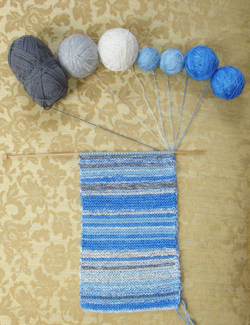 mybelovedcheshire:  jandillmann:  Knit one row a day for a year, matching the yarn color to the color of the sky that day.  MOTHERFUCK THAT'S COOL