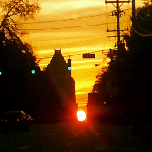 This sunrise / picture has so much potential.    Lol  #GSO  (Taken with Instagram)