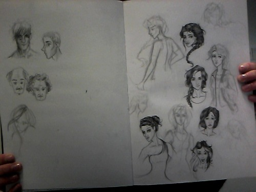thesketchinglife:  Katniss sketches. Fresh lovely web cam quality!