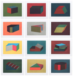 Paintings by Sol Lewitt.